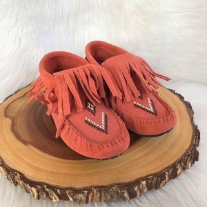 Manitobah leather fringe mukluk moccasins